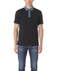 Theory - Contrast Polo Shirt - Lyst