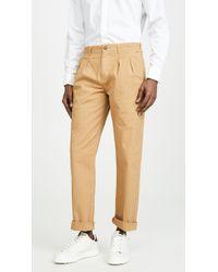 J.Crew Garment Dye Canvas Double Pleated Pants