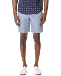 Club Monaco - Maddox Linen Shorts - Lyst