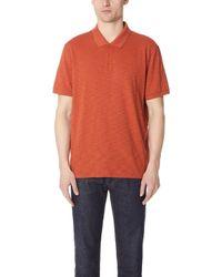 Vince - Short Sleeve Classic Polo Shirt - Lyst