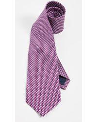 Ferragamo - Dolphin Print Classic Tie - Lyst