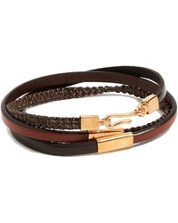 Caputo & Co. - Hand Knotted Triple Wrap Bracelet - Lyst