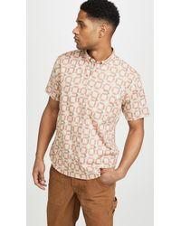 Billy Reid - Short Sleeve Marine Plaid Shirt - Lyst