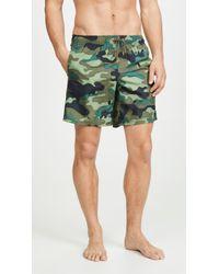Sundek - Camouflage Swim Shorts With Elastic Waist - Lyst