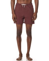 Solid & Striped - The Classic Burgundy Trunks - Lyst