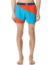 KENZO - Colorblock Short Shorts - Lyst