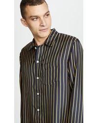 Sleepy Jones - Silk Pj Shirt - Lyst