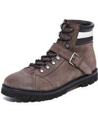 Bally - Champions Suede Hiker Boots - Lyst