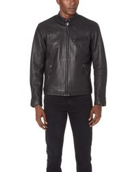 Polo Ralph Lauren - Leather Cafe Racer Jacket - Lyst