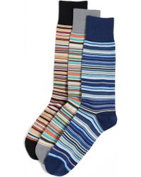Paul Smith - 3 Pack Multi Stripe Socks - Lyst