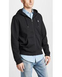 Polo Ralph Lauren Double Knit Full Zip Hoodie - Black