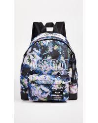 MSGM - X Eastpak Backpack Printed Flower - Lyst
