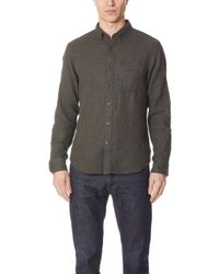 Club Monaco - Double Face Solid Shirt - Lyst