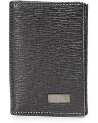 Ferragamo - Vertical Bifold Card Case With Id Window - Lyst