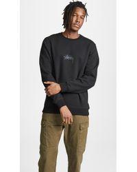 Stussy - Stock Applique Crewneck Sweatshirt - Lyst