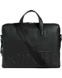 HUGO - Victorian Logo Leather Briefcase - Lyst