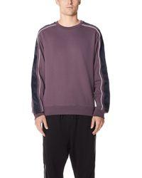 3.1 Phillip Lim - Crew Neck Sweatshirt With Track Stripe - Lyst