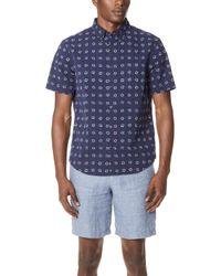 Club Monaco - Square Dot Shirt - Lyst