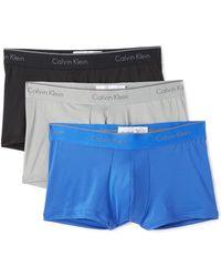 Calvin Klein - 3 Pack Microfiber Low Rise Trunks - Lyst