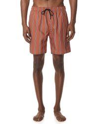Saturdays NYC - Timothy Striped Swim Shorts - Lyst