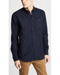 Norse Projects - Anton Brushed Flannel Shirt - Lyst
