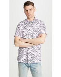 Ted Baker Woolrus Short Sleeve Shirt - Pink