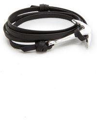 Miansai - Anchor Leather Bracelet - Lyst
