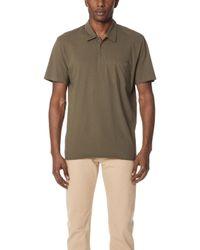 Vince - Single Pocket Short Sleeve Polo Shirt - Lyst