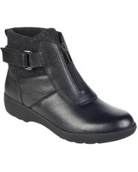 Easy Spirit - Kaymeen Leather Ankle Booties - Lyst