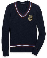 Tommy Hilfiger Crested Cricket Sweater - Lyst