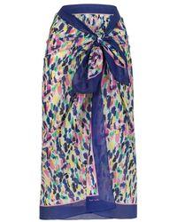Paul Smith Multi-Colour 'Brush Strokes' Sarong blue - Lyst