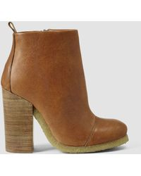 AllSaints Brown Lakote Boot - Lyst