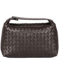 Bottega Veneta Woven Nappa Leather Makeup Bag - Lyst
