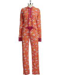 Munki Munki Hooded Pizza Pajamas Set - Lyst