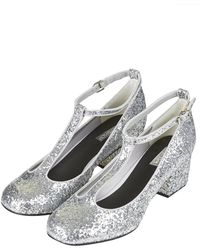 Topshop Jazz Glitter Mid Shoes  Silver - Lyst