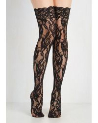 Leg Avenue - In Lace, In Love Thigh Highs - Lyst