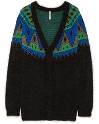Aimo Richly Angora and Wool Blend Cardigan - Lyst