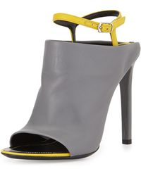 Balenciaga Contrast Ankle-Strap Mule Sandal - Lyst