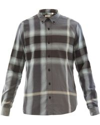 Burberry Brit - Fred Flannel Plaid Shirt - Lyst