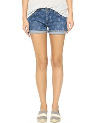 James Jeans Slouchy Fit Boy Shorts - Indio Love blue - Lyst