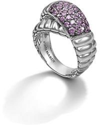 John Hardy Bedeg Cross-Over Ring pink - Lyst