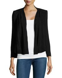 Alice + Olivia Wool  Suede Draped Jacket - Lyst