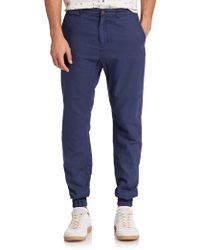 Madison Supply Woven Linen/Cotton Jogger Pants blue - Lyst