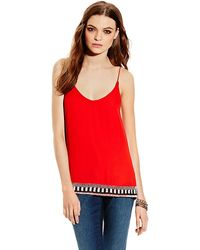 Vince Camuto Beaded Camisole - Lyst