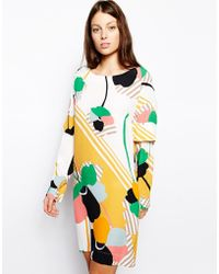 See By Chloé Double Cuff Cape Dress in Giant Flowers Print - Lyst