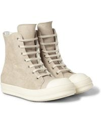 Rick Owens Ramones Treatedleather Sneakers - Lyst