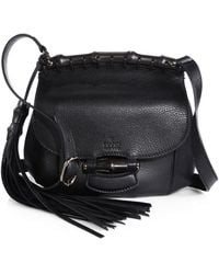 Gucci Nouveau Leather Shoulder Bag - Lyst