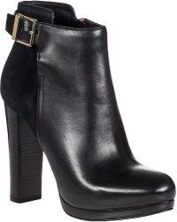 MICHAEL Michael Kors Cidney Ankle Boot Black Leather - Lyst