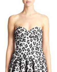 Moschino Cheap & Chic Leopard Jacquard Bustier Top - Lyst
