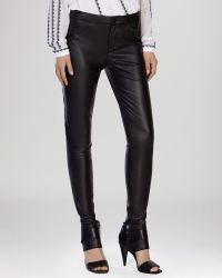 Karen Millen Jeans - Faux Leather black - Lyst